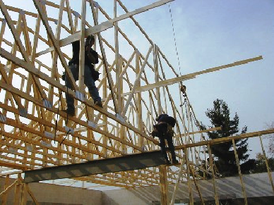 Roof truss installation